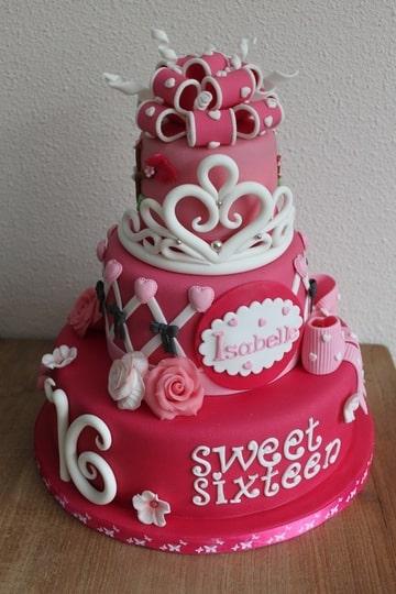 Sweet Sixteen Taart Brengt Moeder Tranen Van Ontroering