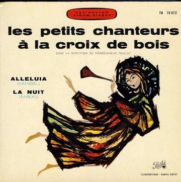LES PETITS CHANTEURS A LA CROIX DE BOIS MGR MAILLE - Livre disque Alleluia / La nuit - 7inch (SP)