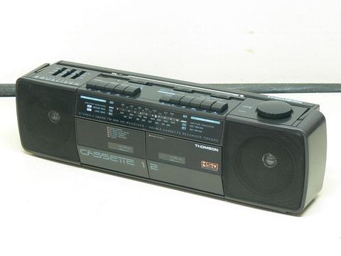boombox vintage thomson tm 5880 poste radio double cassette ebay. Black Bedroom Furniture Sets. Home Design Ideas