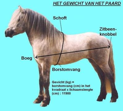 gewicht paard berekenen