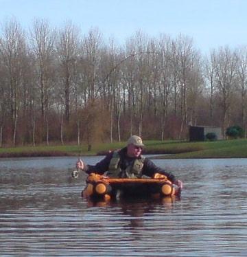 Chris vanuit de Belly-boat