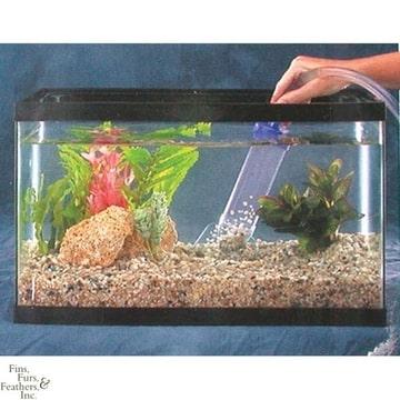 Aquarium opstarten water verversen