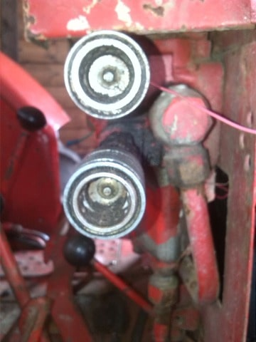 Snelkoppeling hydrauliek tractor