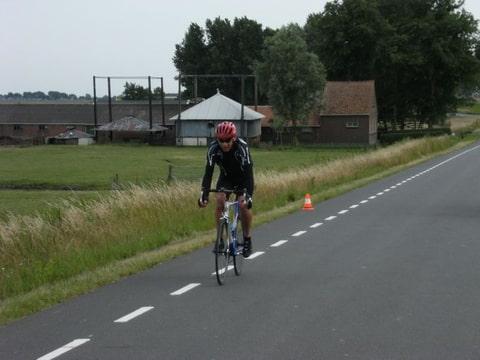 Rene Lommers over de finish