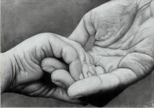 handen - tekenen en schilderen