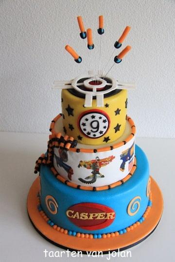 Nerf Birthday Invitations Cake Ideas and Designs