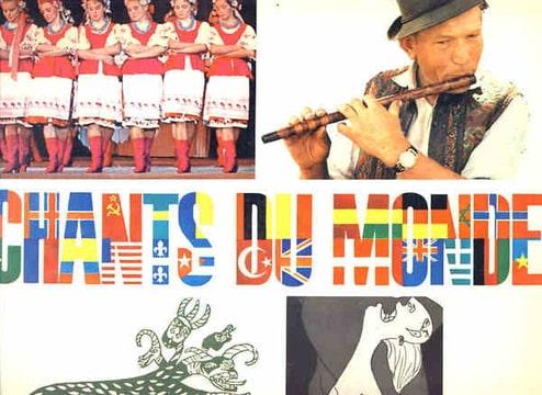 CHANT DU MONDE - Disque catalogue 23 titres. 18 pays 5 regions. avec affiche des 49 disques parus - LP