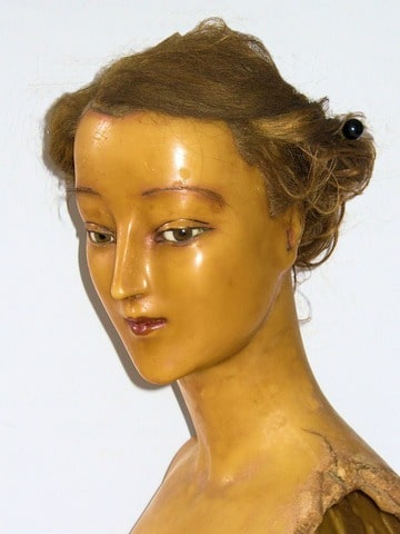 ancien mannequin buste de cire jeune femme 1900 pierre. Black Bedroom Furniture Sets. Home Design Ideas
