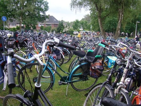 iedereen komt op de fiets