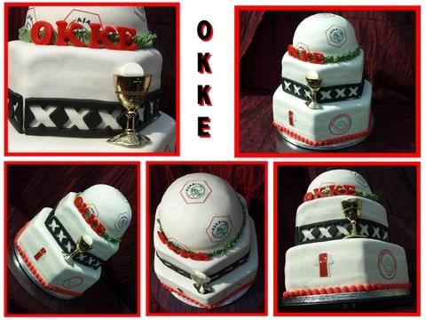 movin taart Communie/Ajax taart (Pagina 1)   Bruids  en Stapeltaarten  movin taart