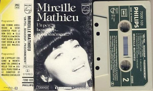 MIREILLE MATHIEU - Un peu  beaucoup  Passionnement Une femme amoureuse 10 titres - Cassette