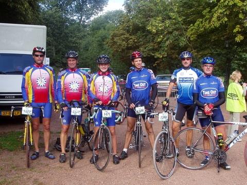 Pim, Ad, Ruud, Peter, Marcel en Rene