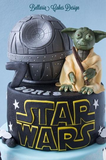 yoda taart Star Wars taart met geboetseerde Yoda en Death Star (Pagina 1  yoda taart