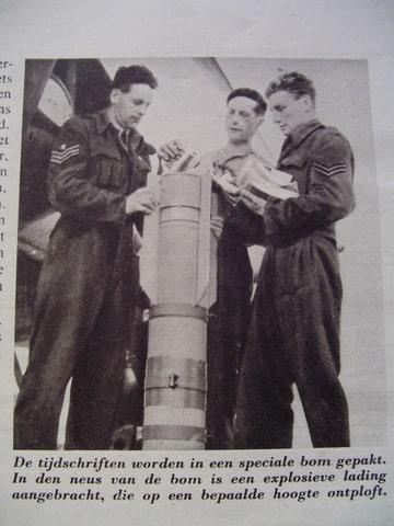 De Wervelwind uit de tweede wereldoorlog bom afwerpen pamfletten