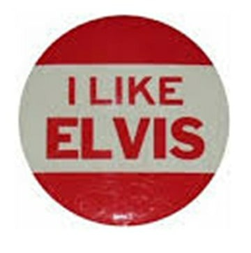 I Like Elvis Button