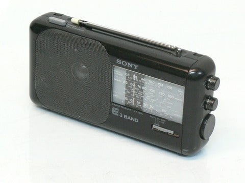 sony icf 760l poste radio portable fm po go 3 band receiver vintage. Black Bedroom Furniture Sets. Home Design Ideas