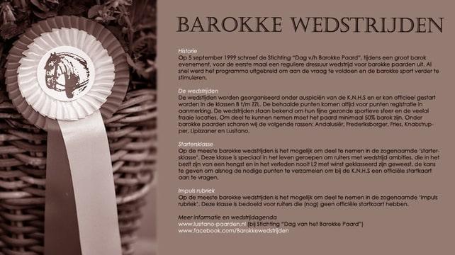 Barokke wedstrijden - Algemene informatie