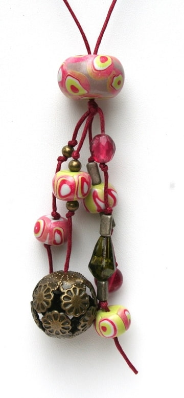 pendentif sautoir rose