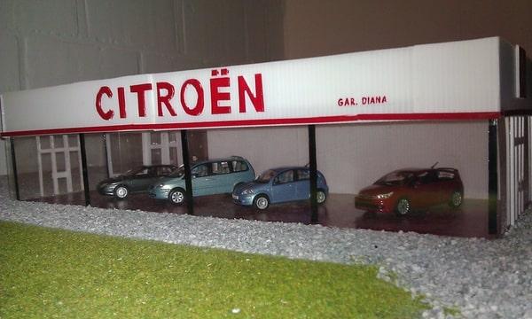 Citroen citro n diana fleurus diorama maquette for Garage citroen flers en escrebieux
