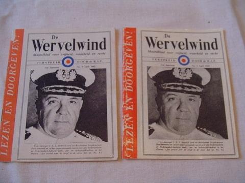 De Wervelwind nummer 1 uit de tweede wereldoorlog ww2 wo2 een pamflet strooi