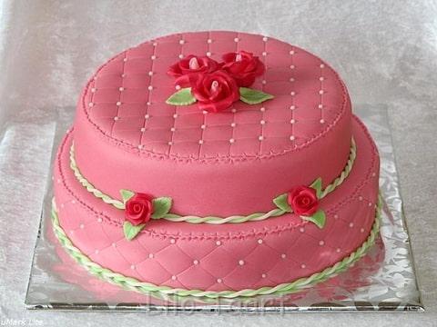 Bruidstaart roze