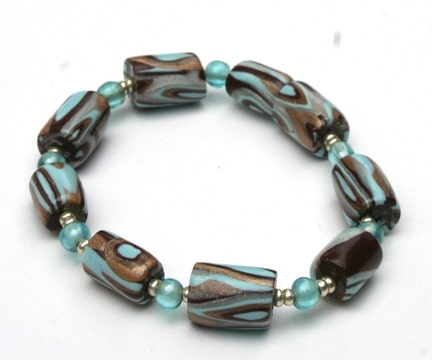 bracelet marron turquoise 2
