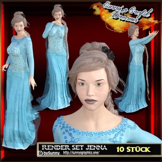 (10 Stück) Render Set Jenna