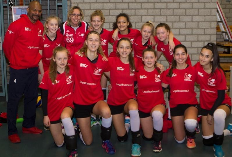 Het NOJK Meisjes C team met Ronald Lacroes
