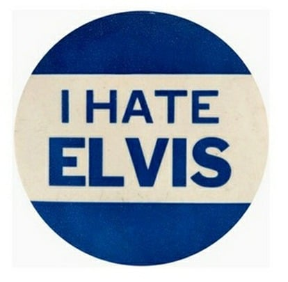 I Hate Elvis Button