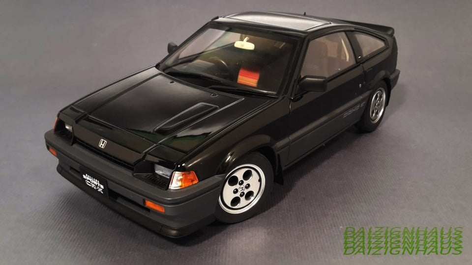 Autoart 1//18 Honda Ballade Sports CR-X Si CRX Classic Die-Cast Model Car Black