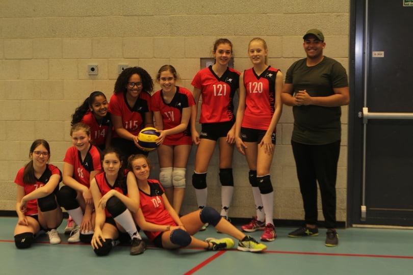 Team Meisjes B5 in maart 2019